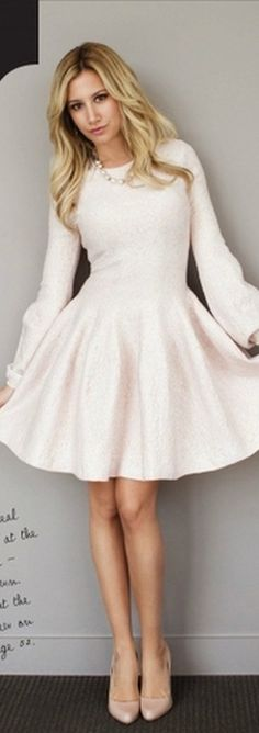 Ashley Tisdale: Dress – Alexander McQueen. The dress is ladylike and perfectly chic!