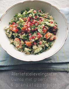 Recept: Quinoa met granaatappelpitjes