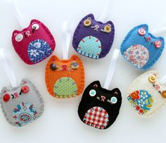 Wholesale Lot of 8 Eco Felt Kitty Cat Ornaments Party Favors Gifts. $48.00, via Etsy.