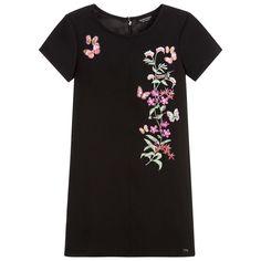 Guess Girls Black Butterfly Dress at Childrensalon.com