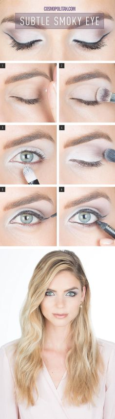 Makeup How-To: Subtle Smoky Eye - 13 Easy Tutorials to Look Polished and Professional at Work   GleamItUp