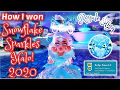 ❄️I WON THE NEW ROYALE HIGH WINTER HALO 2020!️!!❄️ I SHOW YOU HOW I GOT IT! - YouTube Family House Plans, How To Get, How To Plan, I Win, I Got This, Snowflakes, Halo, Neon Signs, Winter