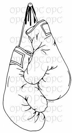 Digital Stamp Boxing Gloves by OakPondCreations on Etsy Más Boxing Gloves Drawing, Boxing Gloves Tattoo, Boxing Tattoos, Tattoo Stencils, Stencil Art, Coloring Books, Coloring Pages, Kick Boxing, Graffiti Tattoo