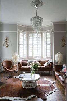 Farrow & Ball Purbeck Stone No 27 Farrow And Ball Living Room, Living Room Grey, Home Living Room, Living Room Decor, Purbeck Stone, Tan Sofa, Farrow Ball, Cornforth White Living Room, Cornforth White Farrow And Ball