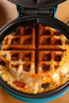 30 Foods You Can Make In A Waffle Iron Pizza Waffles Vertical Savory Waffles, Breakfast Waffles, Pancakes And Waffles, Breakfast Recipes, Pancake Recipes, Brunch Recipes, Making Waffles, Cornbread Waffles, Camping Breakfast