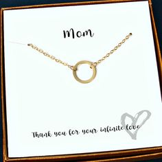 Mom Gifts Gold Mom Necklace Mom Birthday by StarringYouJewelry