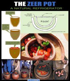 THE ZEER POT- manmade refrigeration