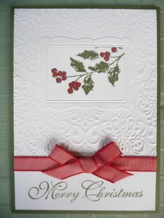 SU! Watercolor Winter stamp set and double embossing technique - Janine Rawlins.