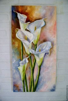 Oil painting … – Yolly Broll – Join in the world of pin Lily Painting, Watercolor Art Paintings, Simple Acrylic Paintings, Watercolor Flowers, Flower Paintings, Watercolor Artists, Indian Paintings, Abstract Paintings, Painting Art