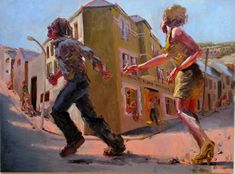 Running Away With the Hairdresser, by Kevin Sinnott, National Museum, Cardiff