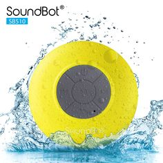 SoundBot HD Water Resistant Bluetooth Shower Speaker, Handsfree Portable Speakerphone with Built-in Mic, of Playtime, Control Buttons and Dedicated Suction Cup (Blue)