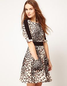 Warehouse Casual Animal Dress #vcukwearyourwardrobe