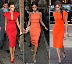 Victoria Beckham Bright Dress