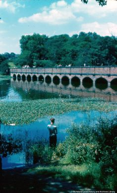 MSE/4/73 Colour photographic transparency showing Carr Mill Dam, St.Helens c. 1960 MSE - The Frank Sheen Collection 4 - Photographic transparencies showing various parts of St.Helens
