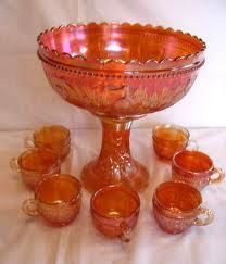Beautiful punch bowl set