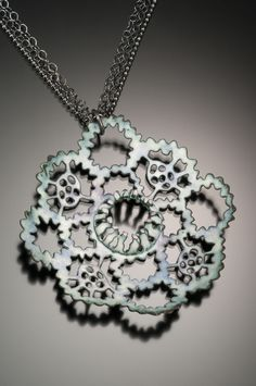 Kathryn Osgood : Jewelry  extreme piercing plus enamel