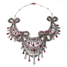 de Joya en Joya (@dejoyaenjoya) в Instagram: «Important necklace circa 1880 seen in the Gioielleria Pennisi (Milano) 😵😵😵 gold & silver with…»
