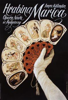 Countess Mariza - Grafin Mariza Polish opera poster designed by Anna Galuszka Magazine Design, Vintage Prints, Vintage Posters, Opera Show, Teatro Musical, Polish Posters, Poster Art, Art Deco Illustration, Party Poster