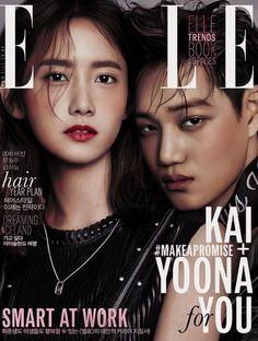 Sabor a Kyungsoo | dazzlingkai:   Yoona & Kai For Elle 2016 February...