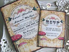 Vintage Wedding Invitation Suite Woodland by Cloud9Fairytales