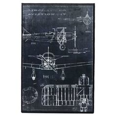 I really want to have a little boy one day so I can put cool stuff like this in his room. ---- Coated Canvas & Burlap Plane Blueprint Wall Art