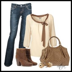 """Casual Neutrals"" by cateva on Polyvore"