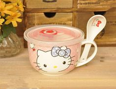 Hello Kitty Cartoon Ceramic Soup Bowl With Handle With Plastic Lid, View soup bowl, YALIDA Product Details from Chaozhou Caitang Lihong Hardware Equipment Factory on Alibaba.com