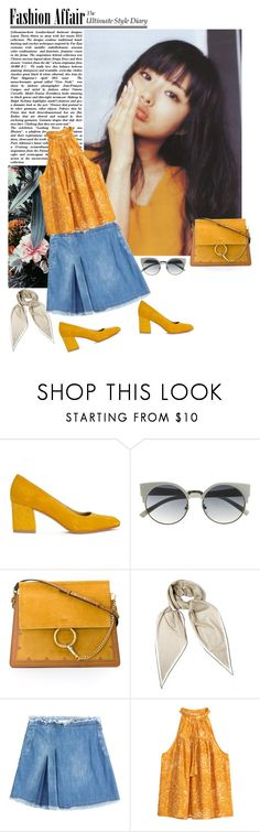 """""""."""" by carlalice ❤ liked on Polyvore featuring Maryam Nassir Zadeh, Chloé, Hermès, INDIE HAIR, See by Chloé and H&M"""