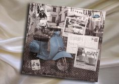 paper napkins , Retro style Italy, dolce vita size 33x33 cm