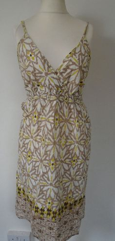 5bfa141568 BHS Vanilla Sands Dress Size 16/18 Lined Cotton Floral Print Holiday Summer  #fashion