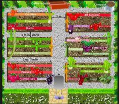 Garden Planning 50084 vegetable garden plan: creating an organic vegetable garden Plan Potager, Potager Garden, Garden Soil, Garden Bed Layout, Garden Beds, Garden Table, Permaculture Design, Vegetable Garden Planning, Building A Raised Garden