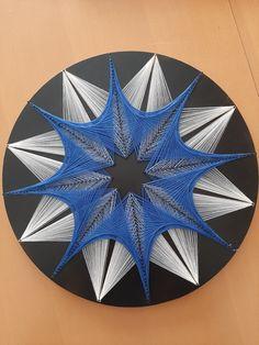 Diy Crafts Room Decor, Diy Home Crafts, Arts And Crafts, String Wall Art, Thread Art, Pin Art, Blue Art, Abstract Wall Art, Lions