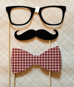 Geek Chic - Mustache, Bow Tie, and Geek Glasses on a Stick - Three Peice Photobooth Prop Set on Etsy Little Man Party, Little Man Birthday, First Birthday Parties, Boy Birthday, Birthday Ideas, Nerd Party, Hipster Party, Party Fun, Mustache Birthday