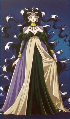 Queen Nehelenia of the Dark Moon, little sister to Queen Serenity of Silver Millennium Sailor Moon Super S, Arte Sailor Moon, Sailor Saturn, Sailor Venus, Sailor Mars, Sailor Moon Villians, Anime Villians, Princesa Serenity, Sailor Moon Aesthetic