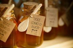 Ideias de lembrancinhas: potinhos com mel