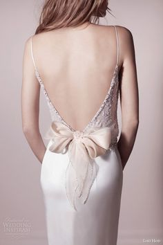 Incredibly unforgiving but, gorgeous. lihi hod collection spring 2013 2014 wedding dress with straps back detail bow