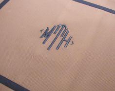 Monogrammed Linen Napkins-Blake Monogram Table Linens