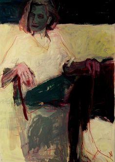 "kundst: "" Barbara Kroll (Ger. ) Woman 100 x 70 cardboard, 2015 """