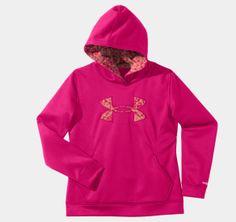 Girls' Armour® Fleece Storm Big Logo Hoodie   1239166   Under Armour US