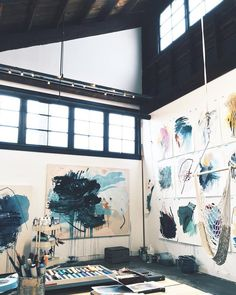 My studio space art, art studios, dream art. Atelier Photo, Atelier D Art, Art Studio Design, Art Design, Studio Art, Studio Room, Studio Spaces, Studio Ideas, Interior Design