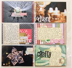 wonderfully inspiring december journal pages!