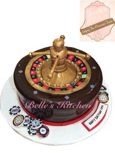 Roulette Table Cake By Belle's Kitchen, To Order Contact Our WA: 081294055786, Line: Bellekitchen Also Be Sure To Follow Our Instagram @belle_kitchen