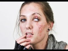How to Create fake scars for Halloween using Rigid Collodion ...