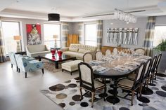 Stunning dining room / living are combo.