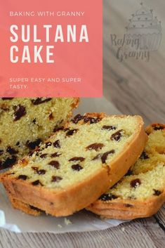 Sultana loaf cake from Baking with Granny. Traditional Scottish home baking. Loaf Recipes, Easy Cake Recipes, Sweet Recipes, Baking Recipes, Dessert Recipes, Baking Desserts, Easy Fruit Cake Recipe, Fruit Cake Recipes, Sultana Cake