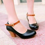 Women's Shoes Round Toe Chunky Heel Pumps Shoes M... – USD $ 32.99