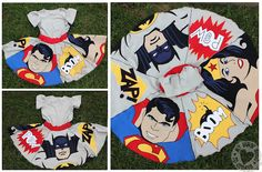 This appliqued super-hero skirt is incredible!!!