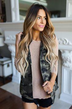 Camo Vest - Dottie Couture Boutique