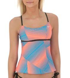 Nike Swim Women's Electric Break Racerback Tankini Top  - Free Shipping