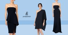 New Arrivals from Jay Godfrey Dark navy blue gives a hint of mystery of color with an opaque enigma.  Shops.Zindigo.com/Femma